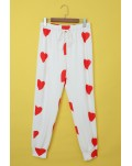 Valentine's Day Love Heart Print Long Sleeves Two-piece Loungewear