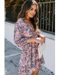 Pink Ruffle Tiered Babydoll Style Mini Dress