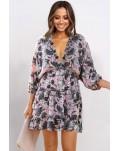 Multicolor Ruffle Tiered Babydoll Style Mini Dress