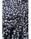 Classic Elastic Waist Ruffled Floral Dress