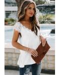 White Lace Knit Tank