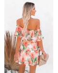Off The Shoulder Ruffle Floral Dress